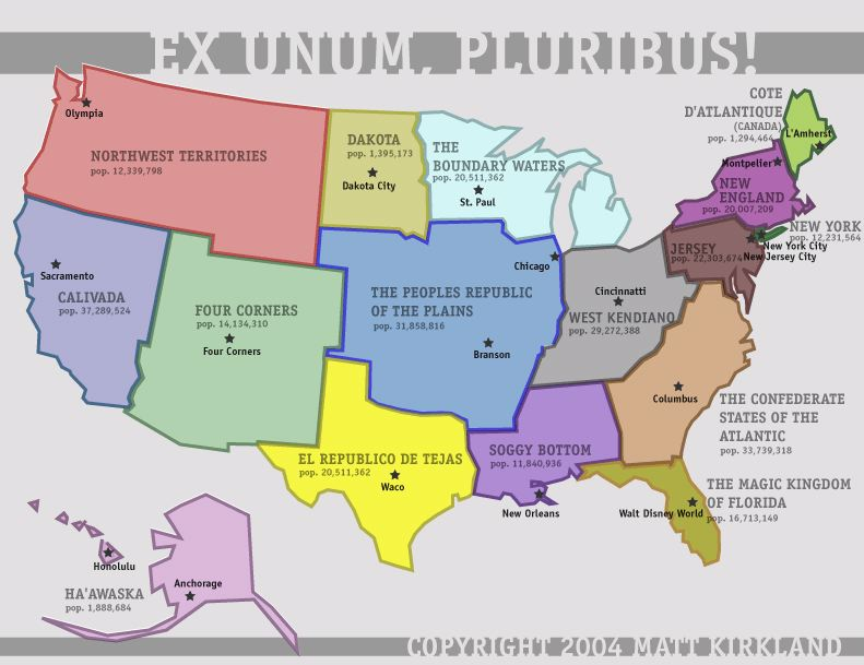 Strange Maps All Things Geospatial Pinterest - New map of us