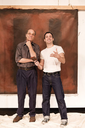 "Matt Gottlieb, left, as Rothko and Shaun Anthony as his assistant. Ken, in ""Red"""
