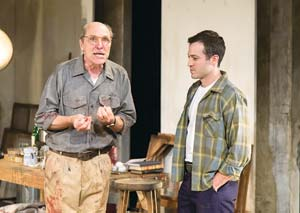 "Matt Gottlieb play abstract-expressionist painter Mark Rothko and Shaun Anthony his put-upon young assistant in the dramatic new play at The New Vic, ""Red."" John Logan's play won six Tony Awards in 2010"