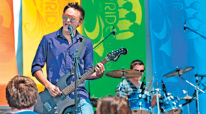 The band Technical Difficulties plays at the 2012 Pacific Pride Festival at Leadbetter Beach.