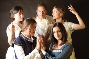 "The ""Orlando"" cast, clockwise from left, Stephanie Farnum, Rob Grayson, Erika Leachman, Morgan Altenhoff and Tess Plant-Thomas"