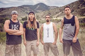 From left, Marley D. Williams, Rory Carey, Eric Rachmany and Wesley Finley started the band Rebelution in Isla Vista