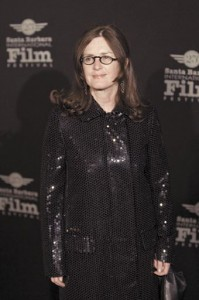 Finola Dwyer is pictured on the red carpet.