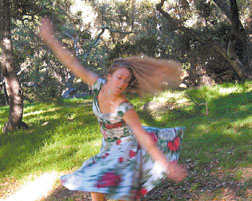 """The third salon, dubbed """"Love in the Afternoon,"""" will bring the dancers and choreography of Robin Bisio to the spacious Montecito Valley Ranch of Dwight and Tina Coffin."""