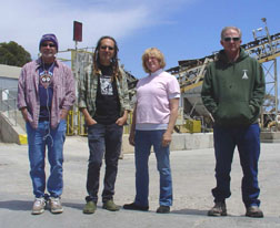 From left to right: Michael Petracca, Steve Fields, Carolyn Chapman and Doug Norton. Petracca and Chapman are part of Fields' and Norton?s new outfit Cosmic Love Child. David Holland Photo