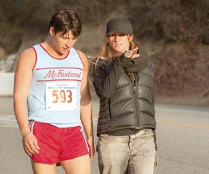 "Director Niki Caro on the set of ""McFarland, USA"" Disney Movies"