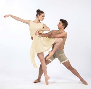 Meredith Harrill of State Street Ballet dances with Colton West. David Bazemore photos
