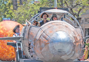 A space ship flies up State Street in the Summer Solstice Parade on Saturday. KENNETH SONG/NEWS-PRESS PHOTOS