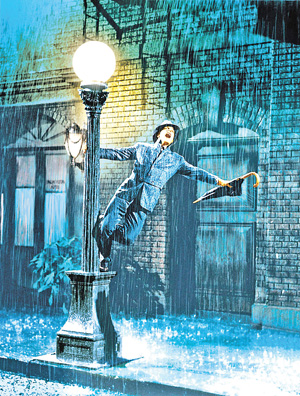 "Gene Kelly in ""Singin' in the Rain The Kobal Collection photo"