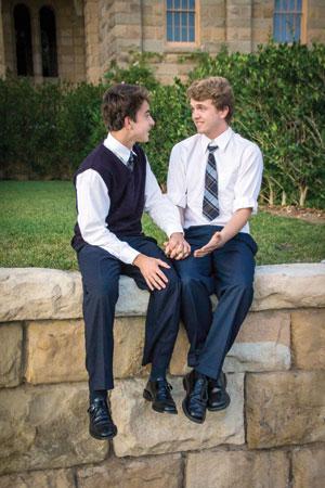 A stolen moment between Peter (Gabe Reali) and Jason (Tad Murroughs) Sophia Winnikoff photos