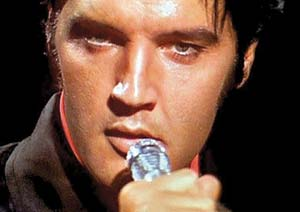Elvis performs for his 1968 comeback special. Courtesy photo