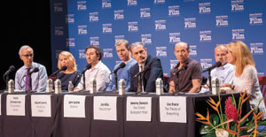 "SBIFF brought in seven producers of last year's best movies to talk about the often long and difficult road taken from idea to premiere. The popular annual panel featured, from left, Los Angeles Times film writer and panel moderator Glenn Whipp, Cathleen Sutherland (""Boyhood""), Teddy Schwarzman (""The Imitation Game""), Robert Lorenz (""American Sniper""), John Lesher (""Birdman""), Jon Kilik (""Foxcatcher""), Jeremy Dawson (""The Grand Budapest Hotel"") and Lisa Bruce (""The Theory of Everything""). NIK BLASKOVICH/NEWS-PRESS"