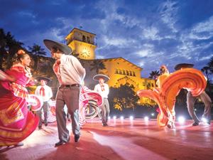 "Grupo Quetzalcoatl performs ""El Son de La Negra"" at Noches de Ronda on Thursday at the Courthouse Sunken Garden.  NIK BLASKOVICH/NEWS-PRESS"