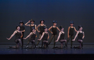 Students from the Gustafson Dance Two-Week Junior Intensive program perform Broadway numbers during the 2014 show. Photo courtesy John Conroy Image