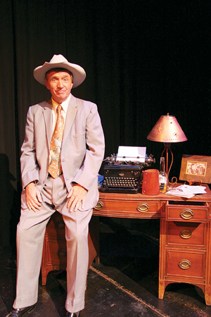Rich Hoag, shown performing as Will Rodgers, will be the master of ceremonies for the Saturday performance at Center Stage Theater. David Bazemore photo