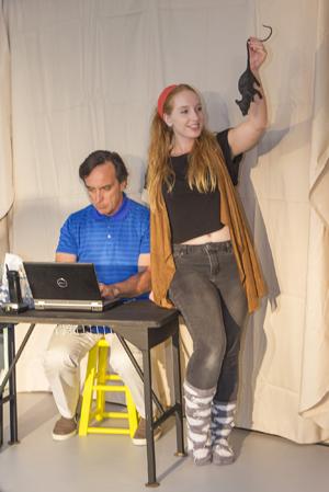 Richard Gracyk plays Schuman, owner of Samantha, who is played by Nikki Stark. William Koseluk photo