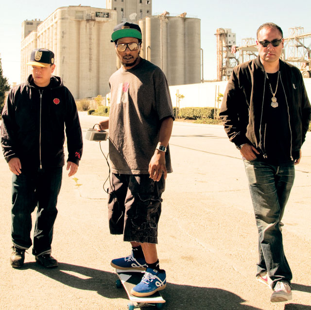 From left. Kid Koala, Del tha Funky Homosapien and Dan the Automator Michael Donovan photo
