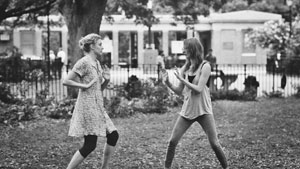 "Greta Gerwig, left, as Frances and Mickey Sumner, as Sophie, play-fight in a scene from the film, ""Frances Ha."" Independent Film Channel photos"