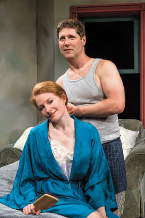 Dee Ann Newkirkplays Frankieand RickGifford makes his Ensemble Theatre debut in the roleofJohnny. David Bazemore photos