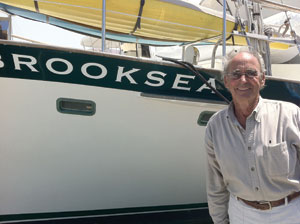 Ernie next to his boat, Brooksea, in the Santa Barbara Harbor Don Barthelmess photo
