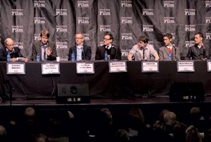 "The directors panel, from left, moderator Peter Bart; Tom Hooper, ""Les Miserables""; Rich Moore, ""Wreck-It Ralph""; David O. Russell, ""Silver Linings Playbook""; Benh Zeitlin, ""Beasts of the Southern Wild""; Malik Bendjelloul, ""Searching for Sugar Man""; and Mark Andrews, ""Brave."" NIK BLASKOVICH/NEWS-PRESS"