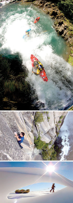 "FROM TOP :  ""Flow Hunters"" -  Graeme Murray photo ""Reel Rock7: Honnold 3.0"" - Peter Mortimer photo ""Crossing the Ice"" - Banff Mountain Film Festival photo"