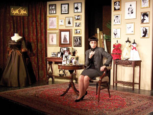 "JamesBlairphoto Susan Claassen as Edith Head in the Center State Theater production of ""A Conversation with Edith Head"" James Blair photo"