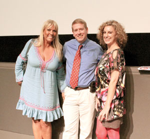 Karen McCullah, Matt Ryan and Kirsten Smith COURTESY PHOTO